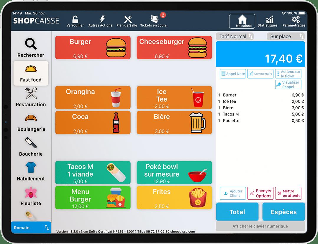 logiciel-caisse-gratuit-iPad-commande-commerce